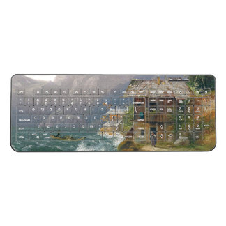 Austria Lake Boat Family Cabin Wireless Keyboard