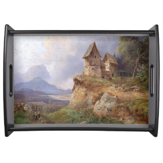 Austria Landscape House in Country Serving Tray