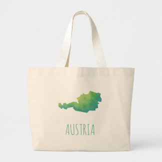 Austria Map Large Tote Bag