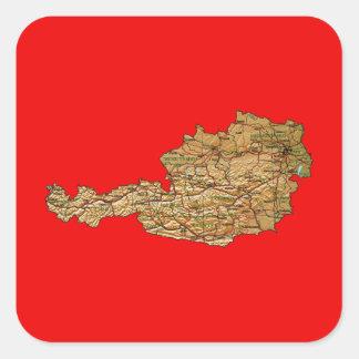 Austria Map Sticker