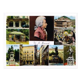 Austria, Mozart, places linked to Mozart Postcard