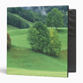 Austria. Rolling green hillside and trees Vinyl Binder