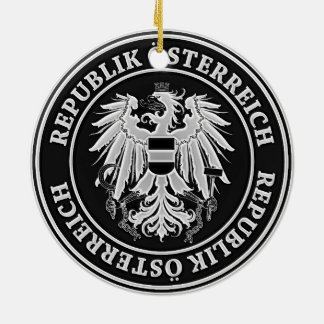 Austria Round Emblem Ceramic Ornament