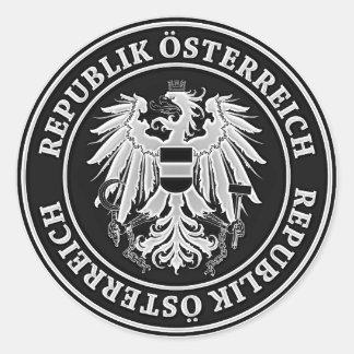 Austria Round Emblem Classic Round Sticker