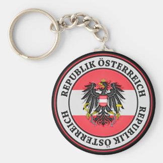 Austria Round Emblem Keychain