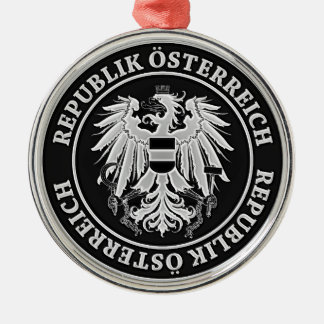 Austria Round Emblem Metal Ornament