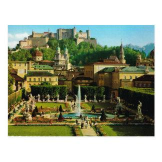 Austria, Salzburg, castle and gardens Postcard