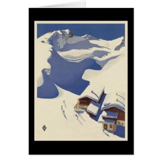 Austria Ski lodge in the Alps Card