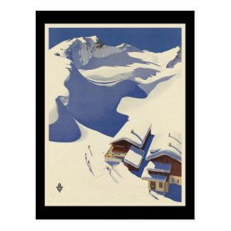 Austria Ski lodge in the Alps Postcard