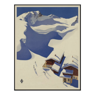 Austria Ski lodge in the Alps Poster