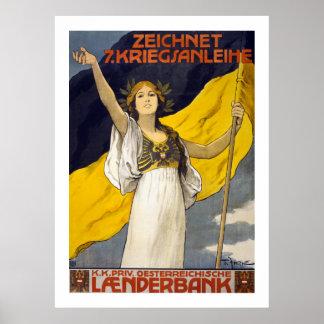 Austrian 7th War Loan (white) Poster