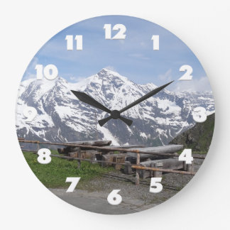 Austrian Alps custom wall clock