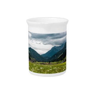 Austrian alps pitcher