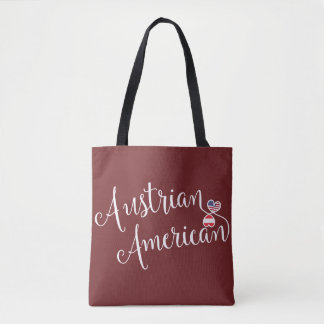 Austrian American Entwined Hearts Grocery Bag