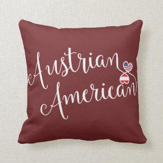 Austrian American Entwined Hearts Throw Cushion