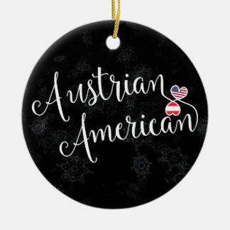 Austrian American Hearts Christmas Tree Ornament