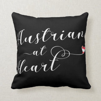 Austrian At Heart Throw Cushion, Austria Throw Pillow