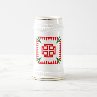 Austrian Fatherlandic Cross White+Gold Beer Stein