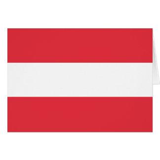 Austrian Flag Card
