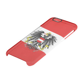 Austrian flag clear iPhone 6/6S case