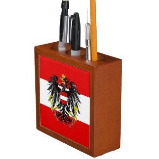 Austrian flag desk organizer