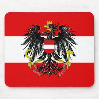Austrian flag mouse pad