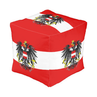 Austrian flag pouf