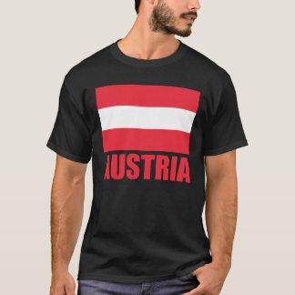 Austrian Flag Red Text Dark T-Shirt