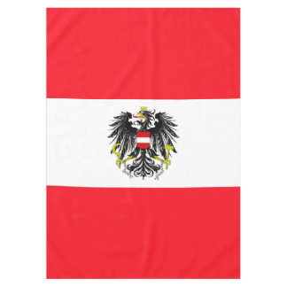 Austrian flag tablecloth