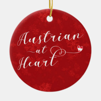 Austrian Heart, Christmas Tree Ornament