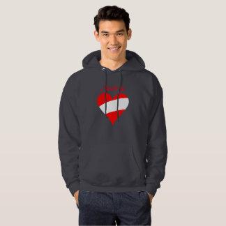 Austrian heart hoodie