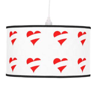 Austrian heart pendant lamp
