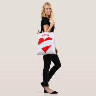 Austrian heart tote bag