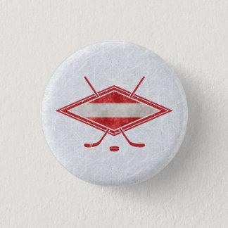 Austrian Hockey Flag Österreich Badge 1 Inch Round Button