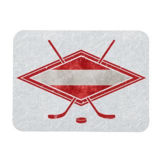 Austrian Hockey Flag Österreich Magnet