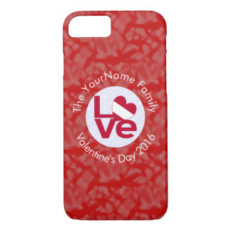 Austrian LOVE White on Red iPhone 8/7 Case
