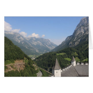 Austrian mountains near Werfen Card