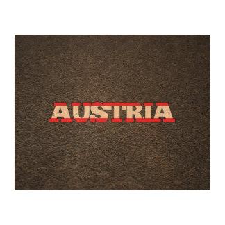 Austrian name and flag photo cork paper