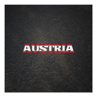 Austrian name and flag perfect poster