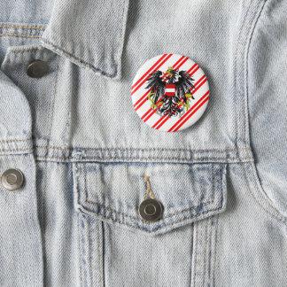 Austrian stripes flag 2 inch round button