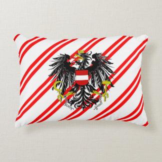 Austrian stripes flag accent pillow