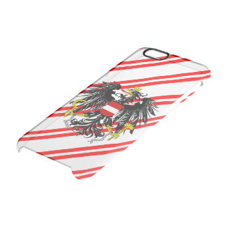 Austrian stripes flag clear iPhone 6/6S case