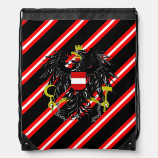 Austrian stripes flag drawstring bag
