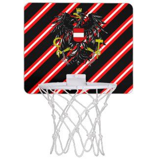 Austrian stripes flag mini basketball hoop