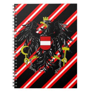 Austrian stripes flag notebook