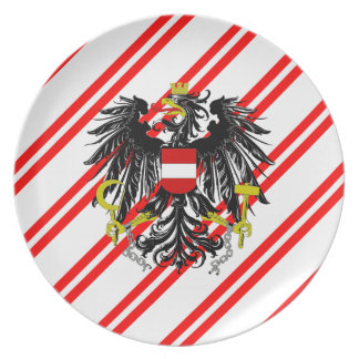 Austrian stripes flag plate