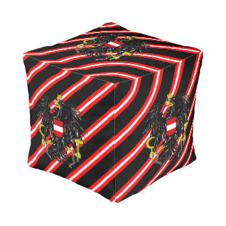 Austrian stripes flag pouf