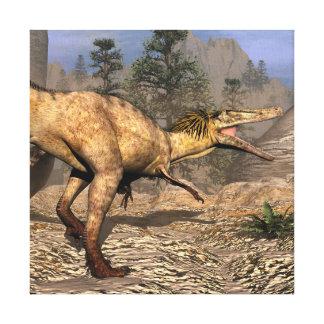 Austroraptor dinosaur canvas print