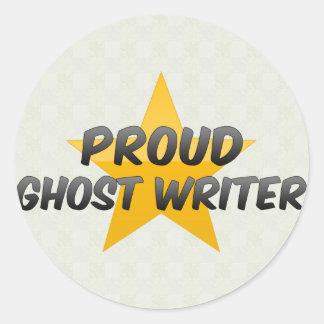Auteur de fantôme fier autocollants ronds