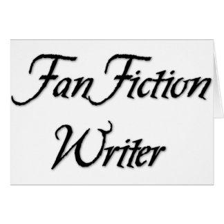 Auteur de fiction de fan carte de vœux